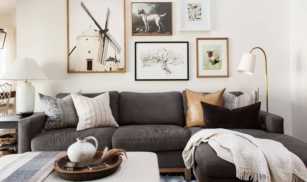 Fall in the family room sectional – main