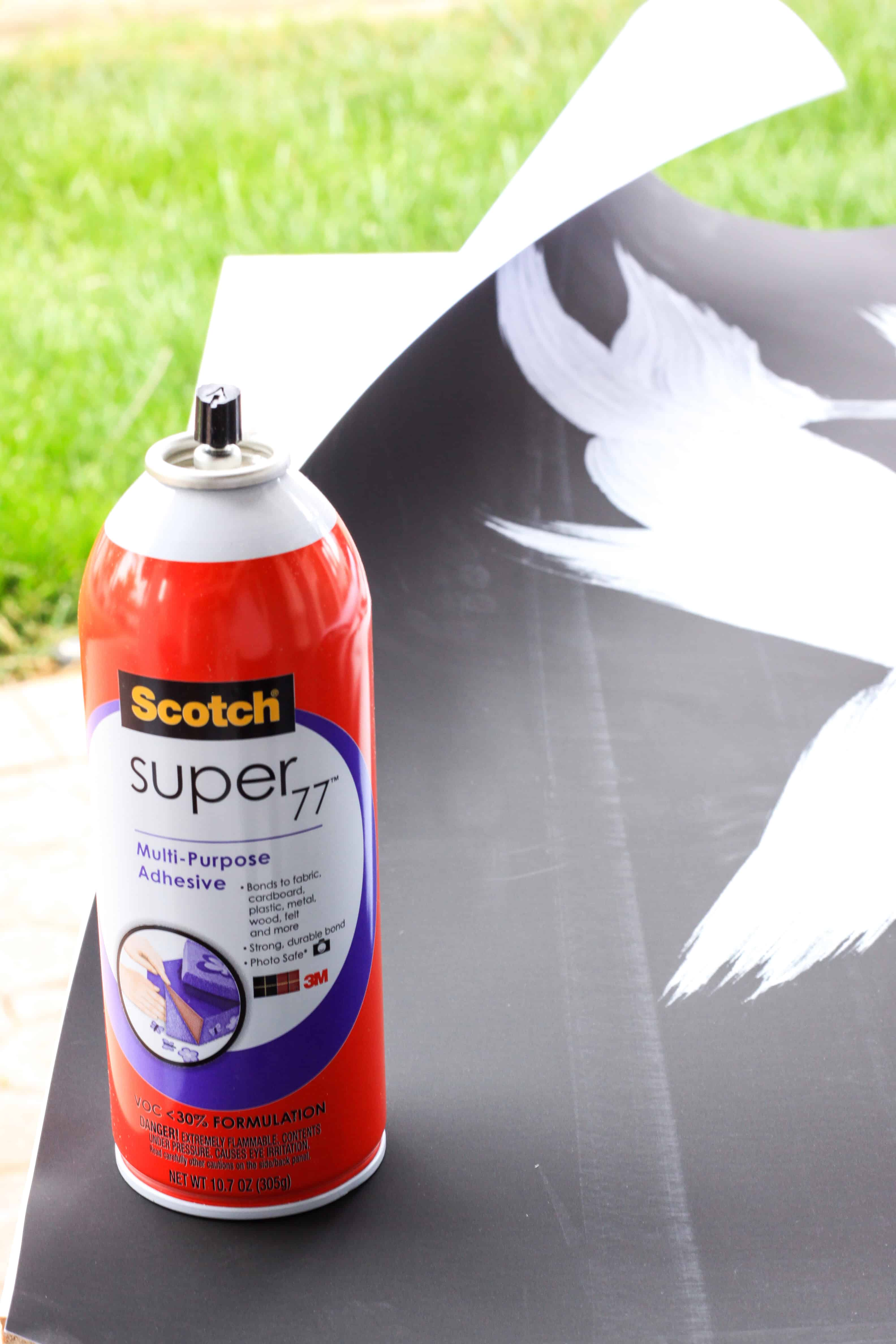 Adhesive for making a frame for artwork