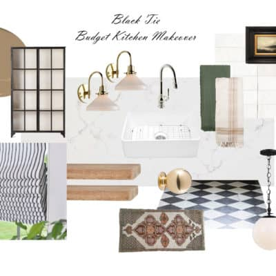 Black Tie Budget Kitchen Makeover (Plans)