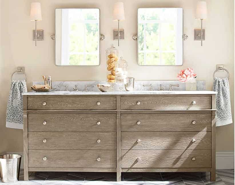 Pottery Barn Rustic Double Vanity