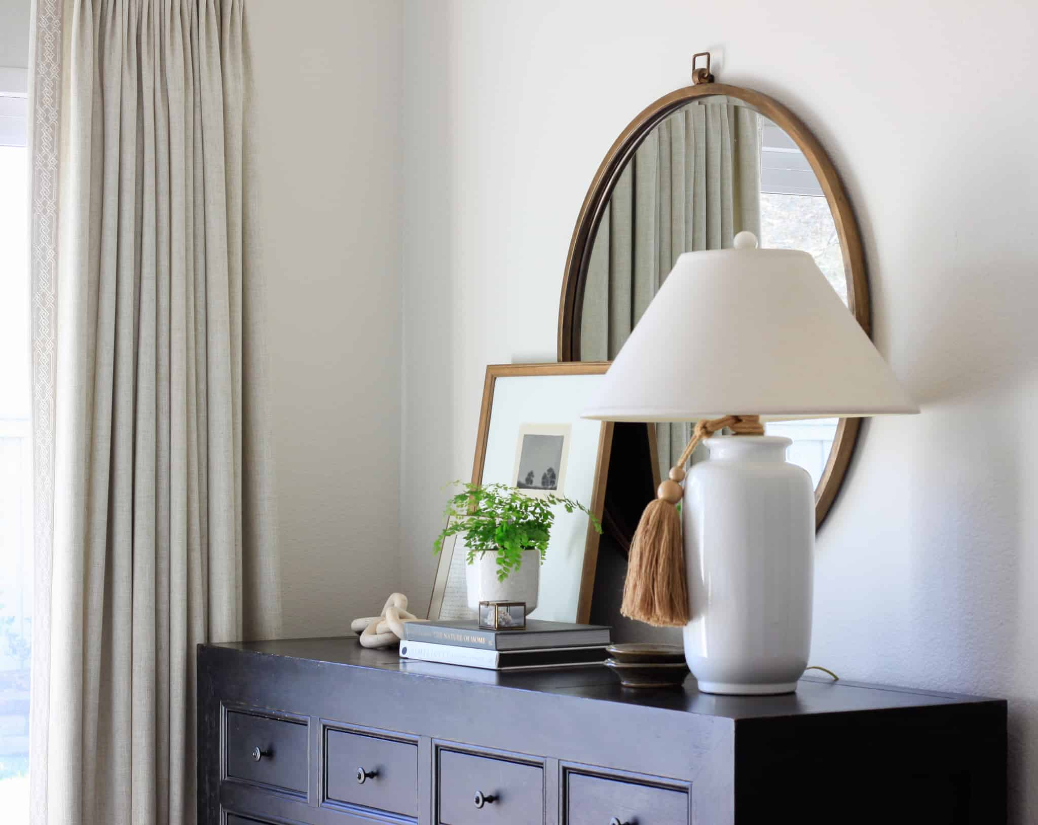 master bedroom dresser styling
