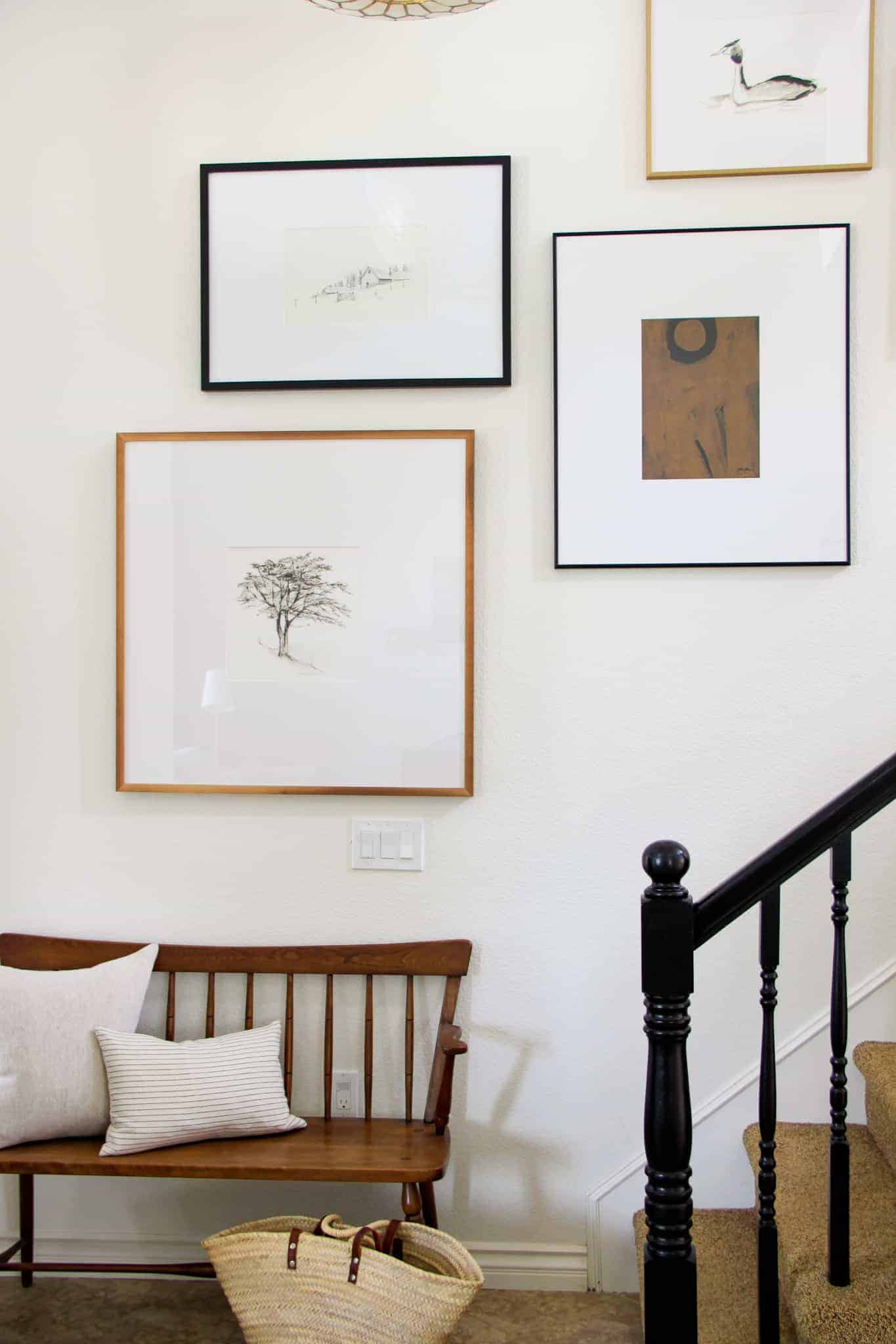 wildflower home staircase gallery wall