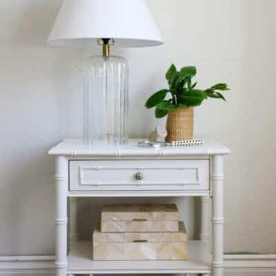 Hand-Painted Chippendale Nightstand Makeover