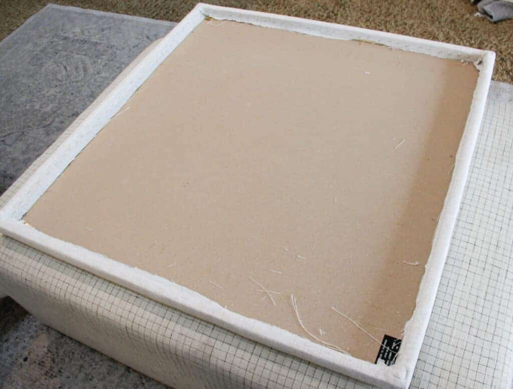 back of upholstered pin board