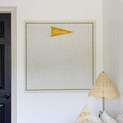 DIY Upholstered Bulletin Board