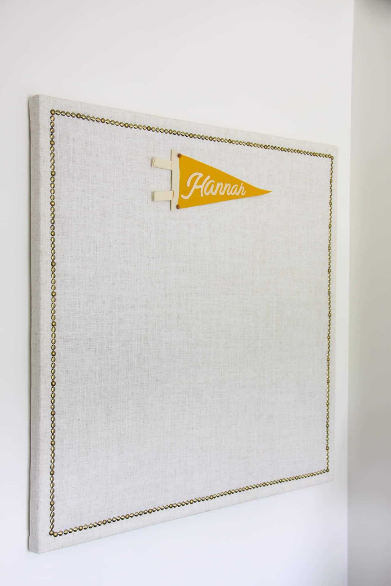 upholstered pin board