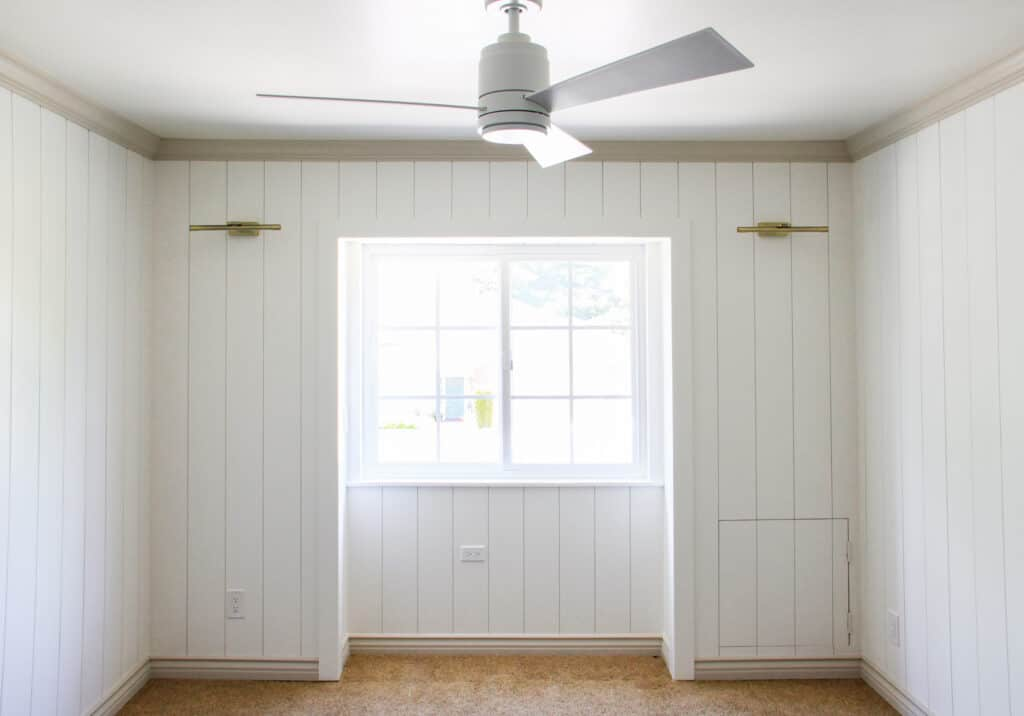 shiplap window area