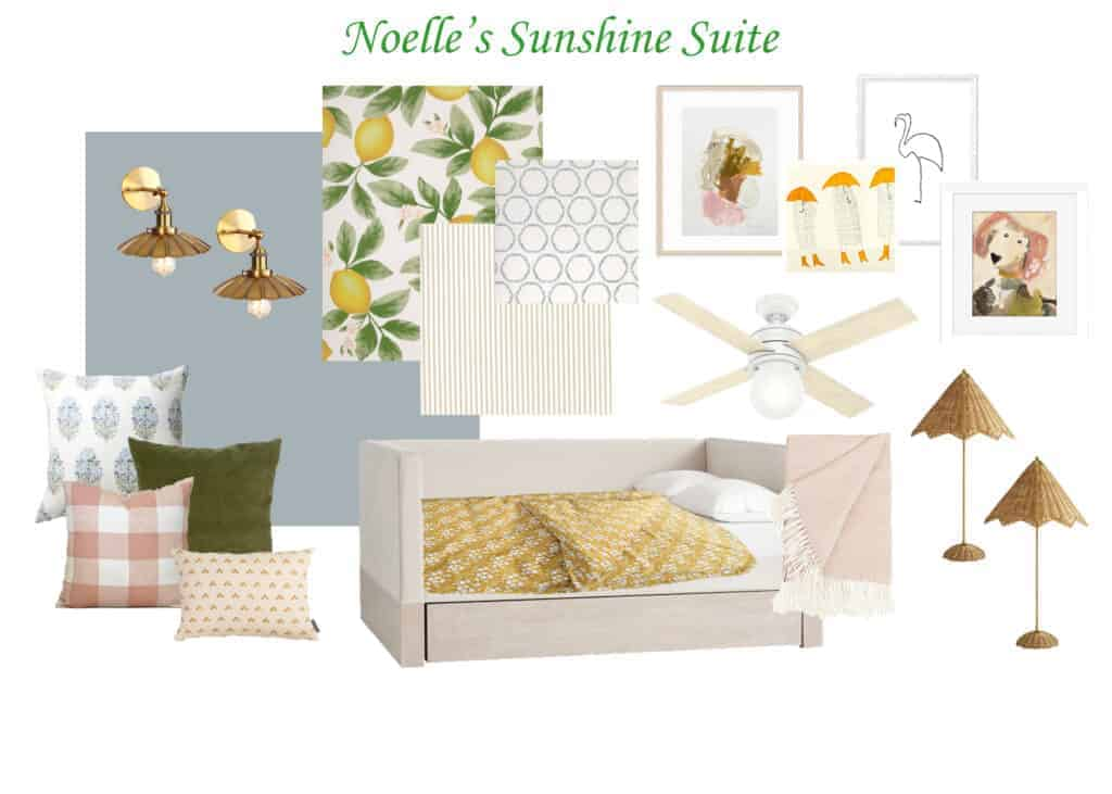 Collage of Pictures for Bedroom Design Board