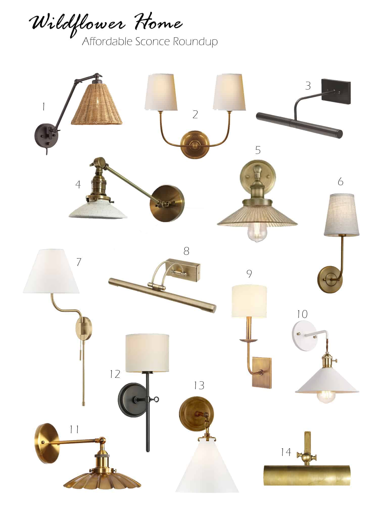 roundup of affordable wall sconces