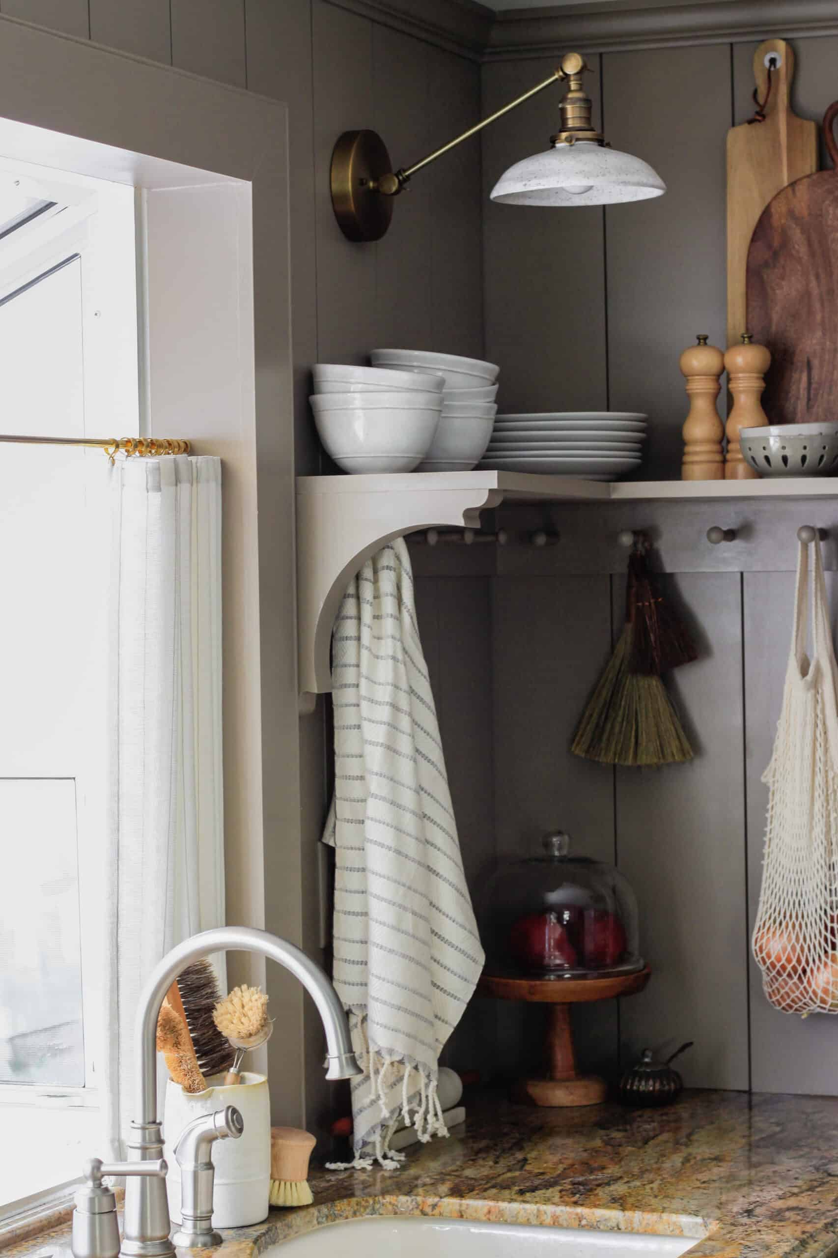 cozy cafe kitchen makeover budget sconce
