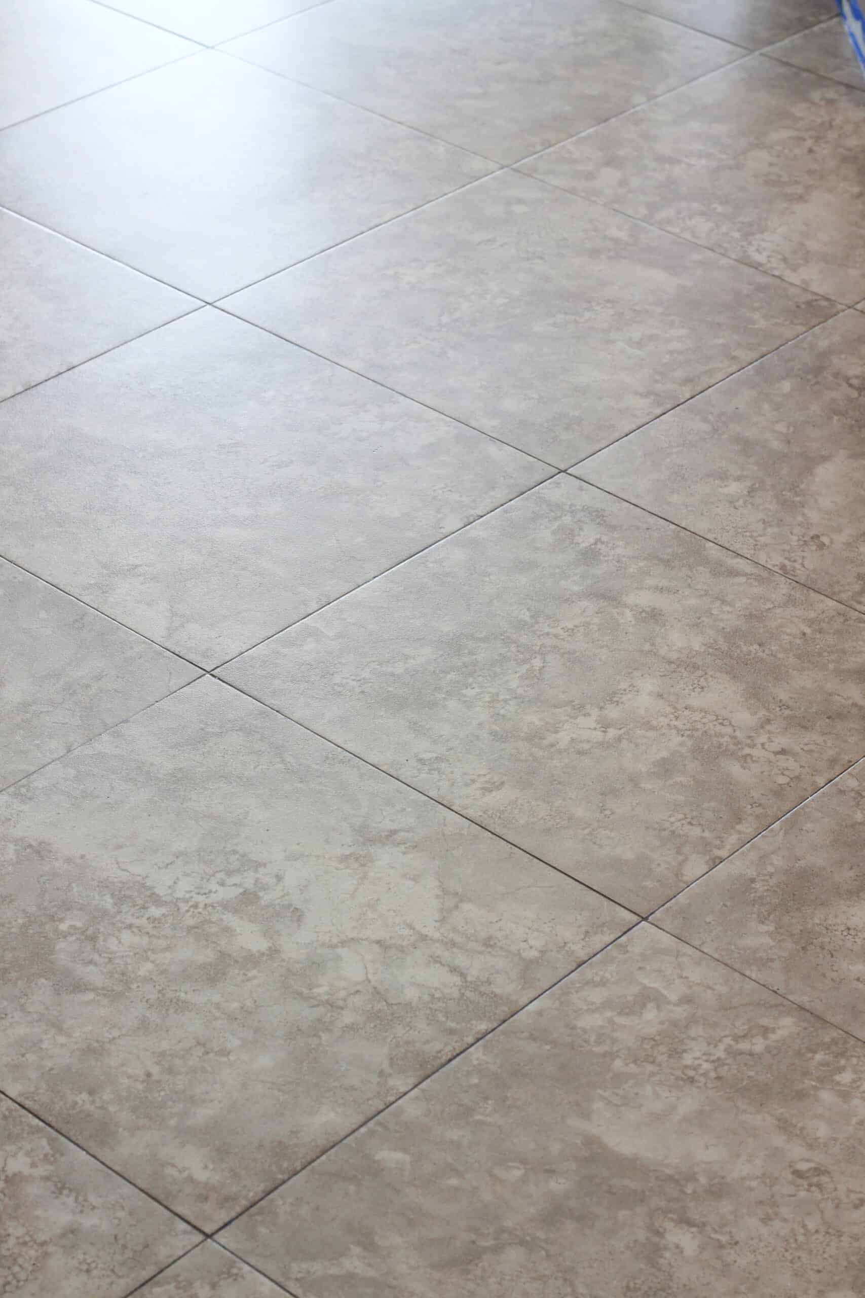 brown tile floors with clear primer