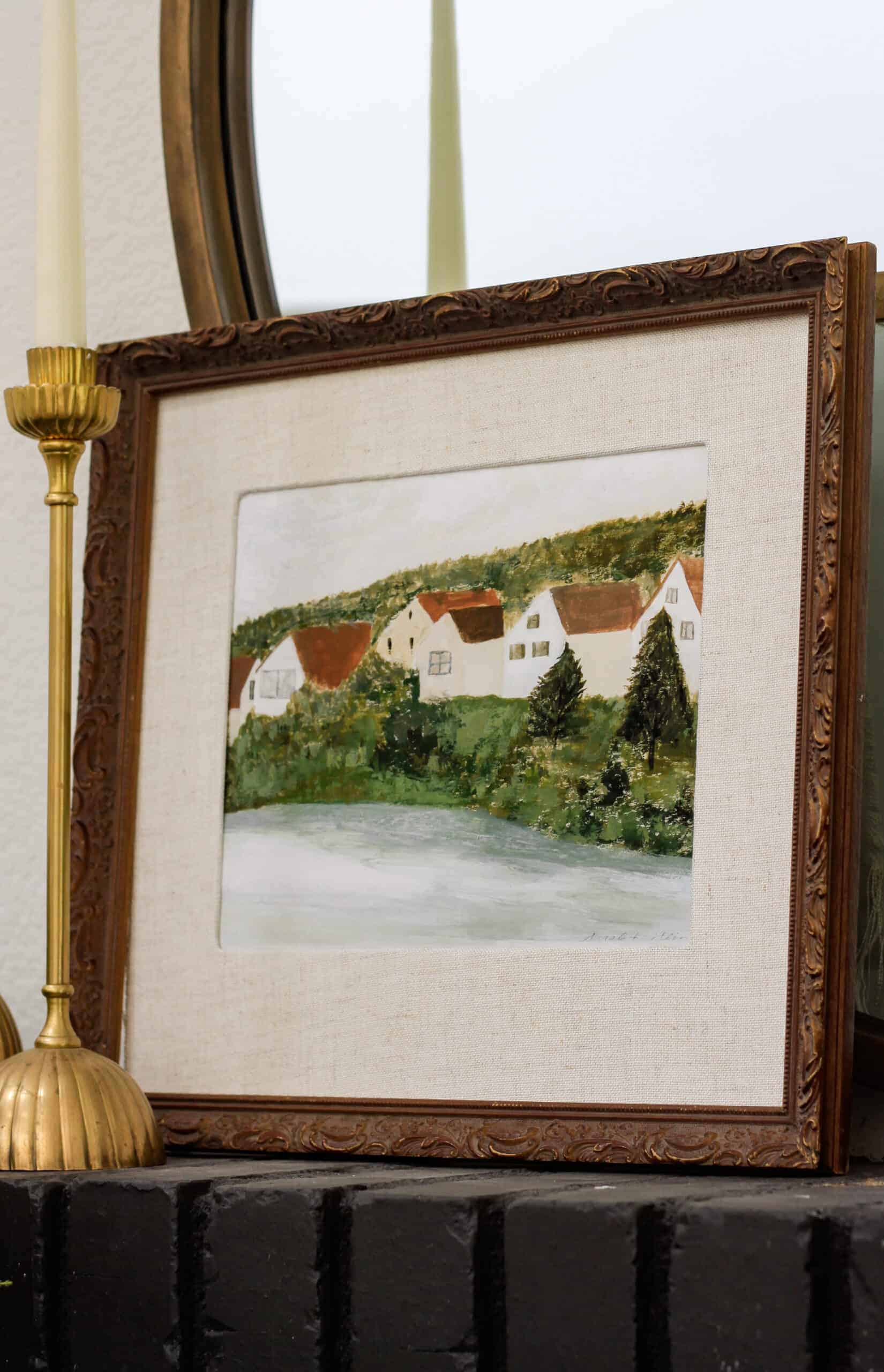 Artwork with houses