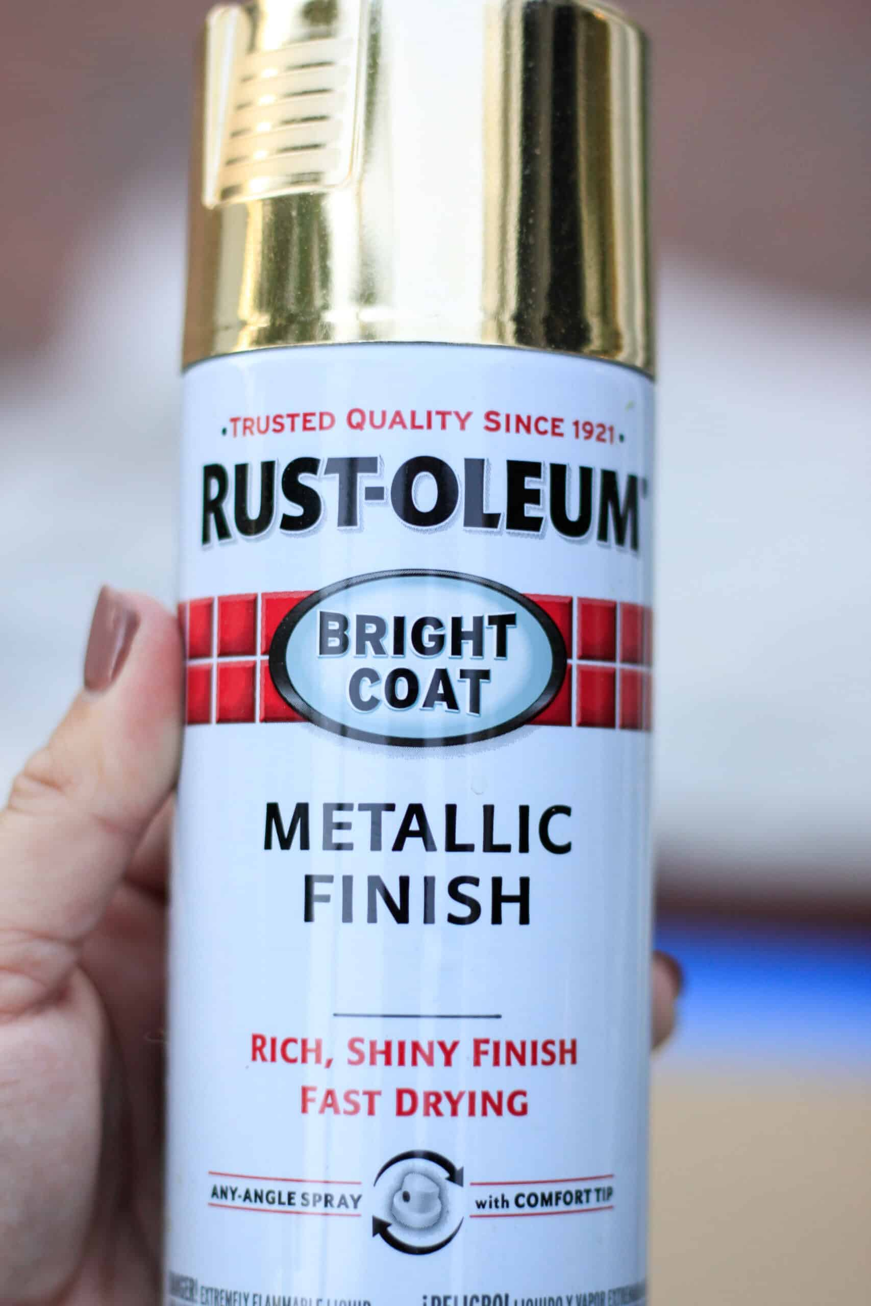 can of gold spray paint