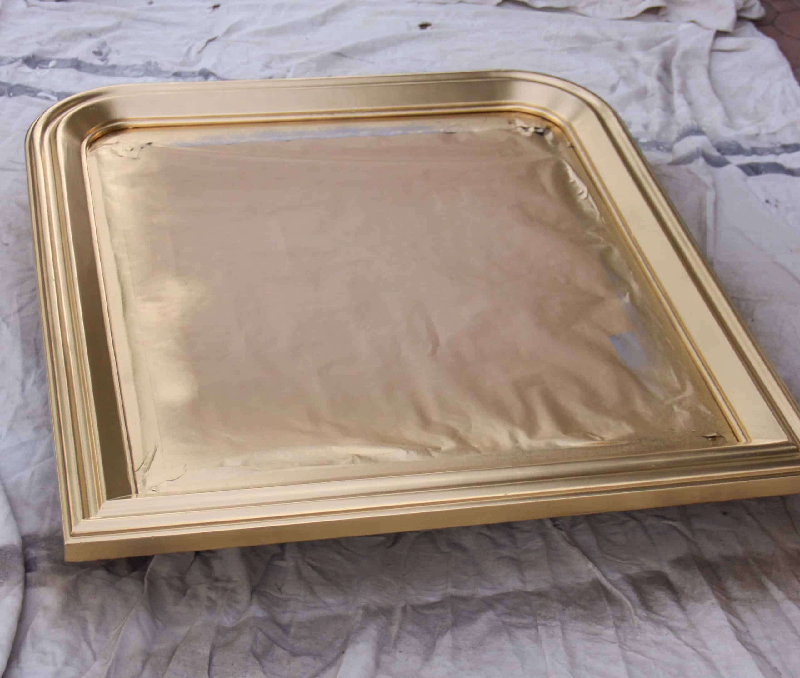 mirror spray painted gold