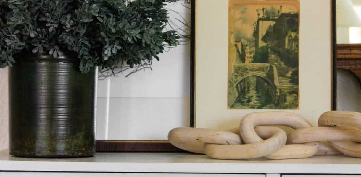 close up of figure drawings on console table