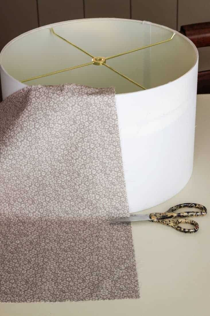 lampshade with fabric draped over