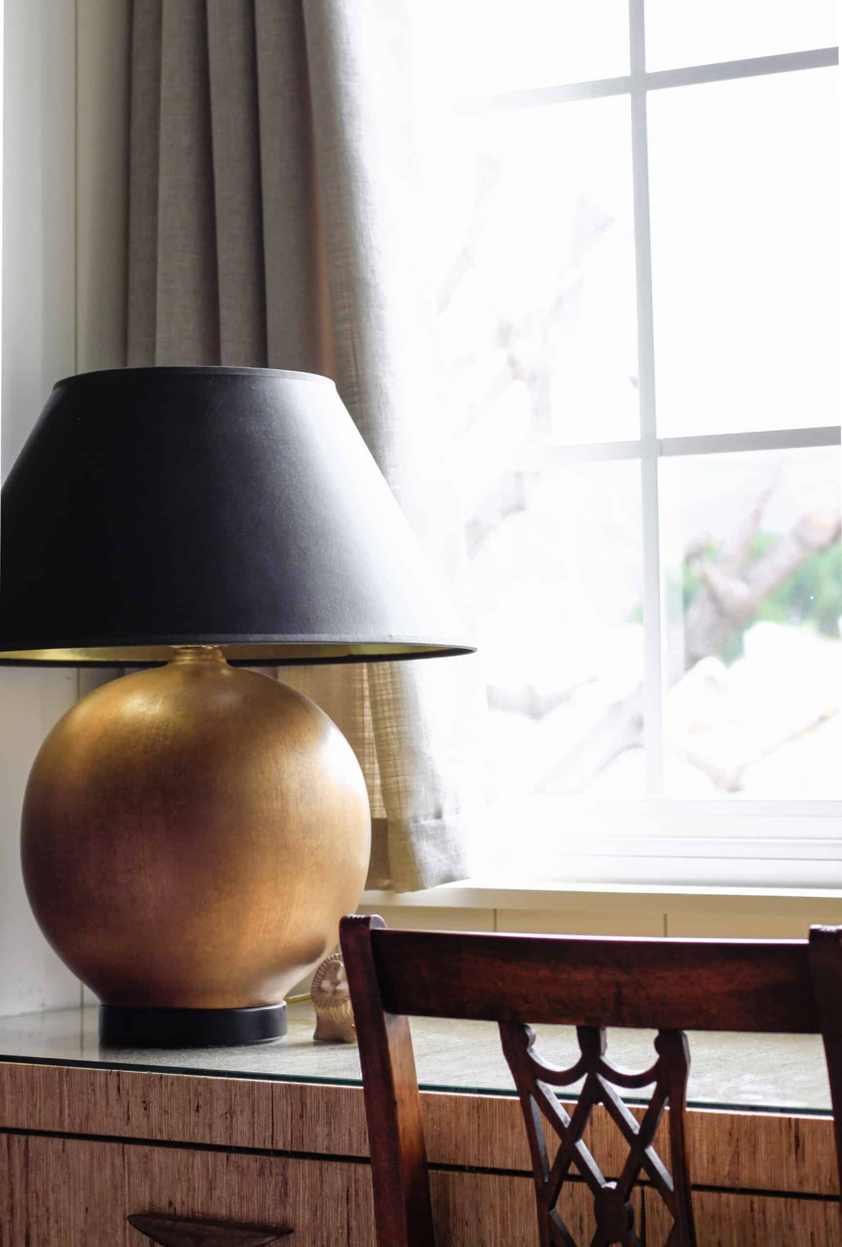 gold ball lamp nyc apartment style