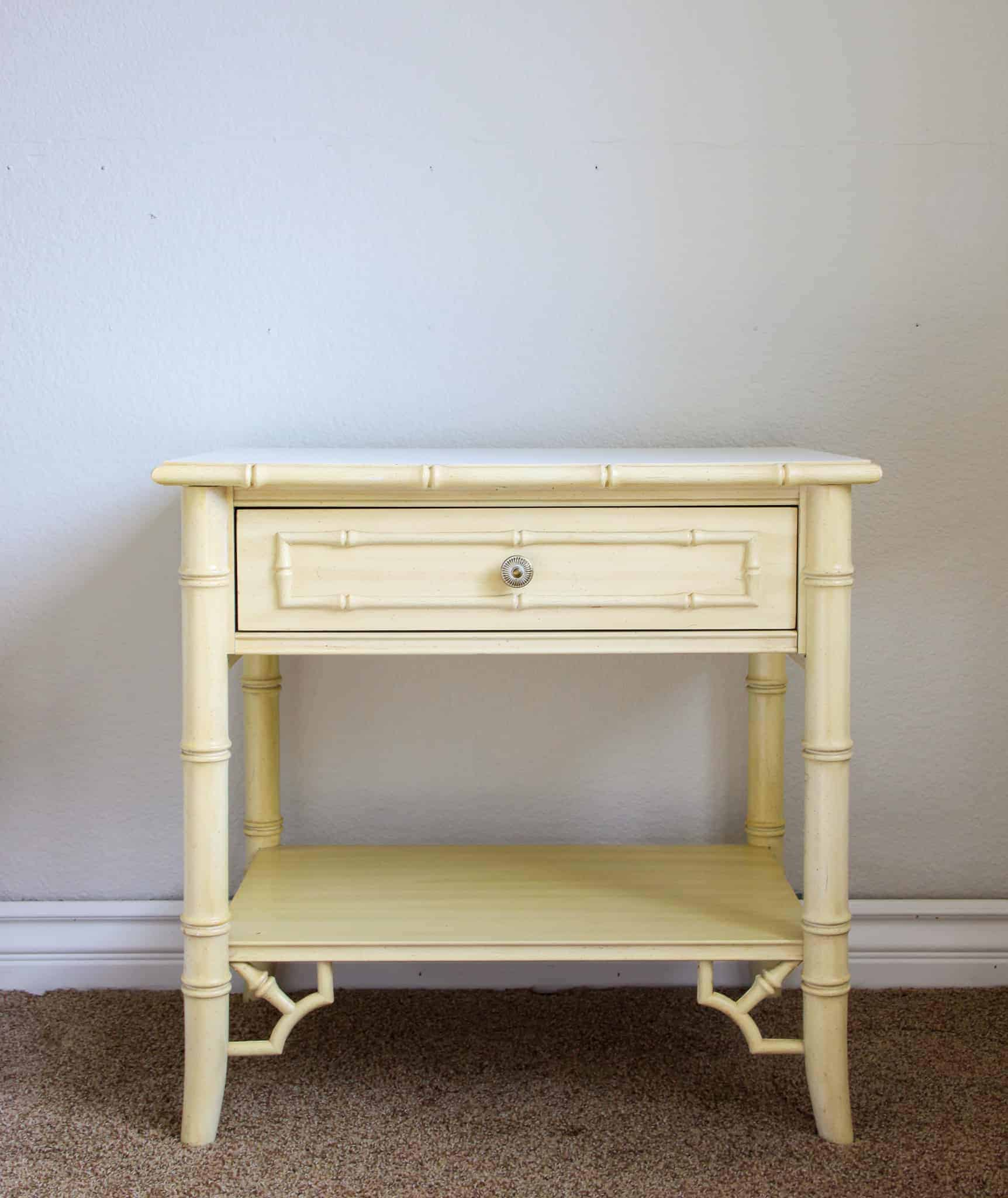 vintage chippendale nightstand before fusion mineral paint