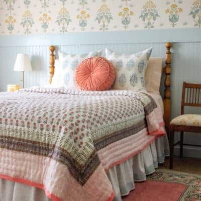 How to Make a Gathered Bed Skirt (No-Sew Option)