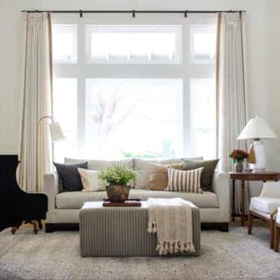 Motorized Curtains in the Formal Living Room