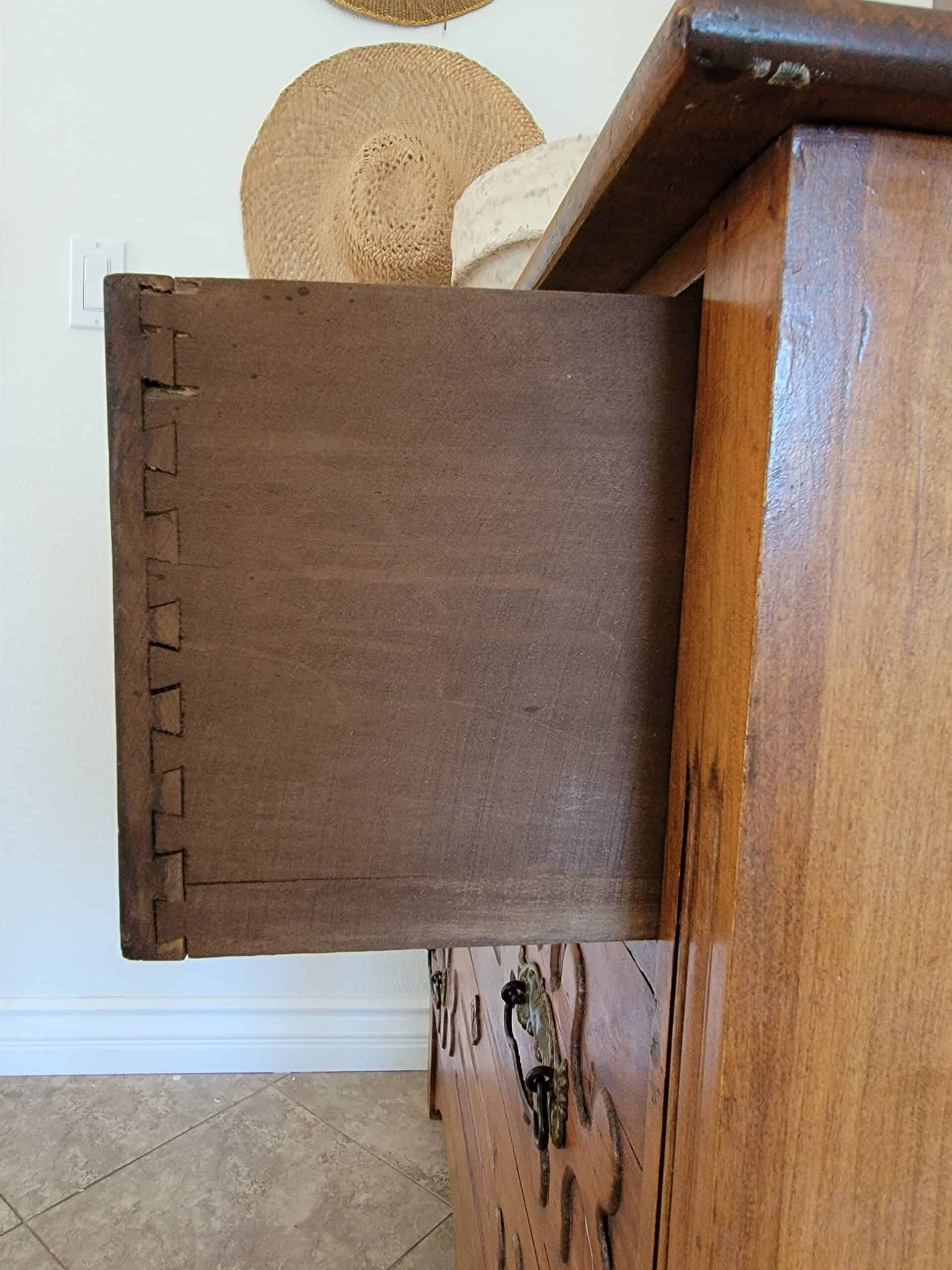 antique chest dovetail drawers