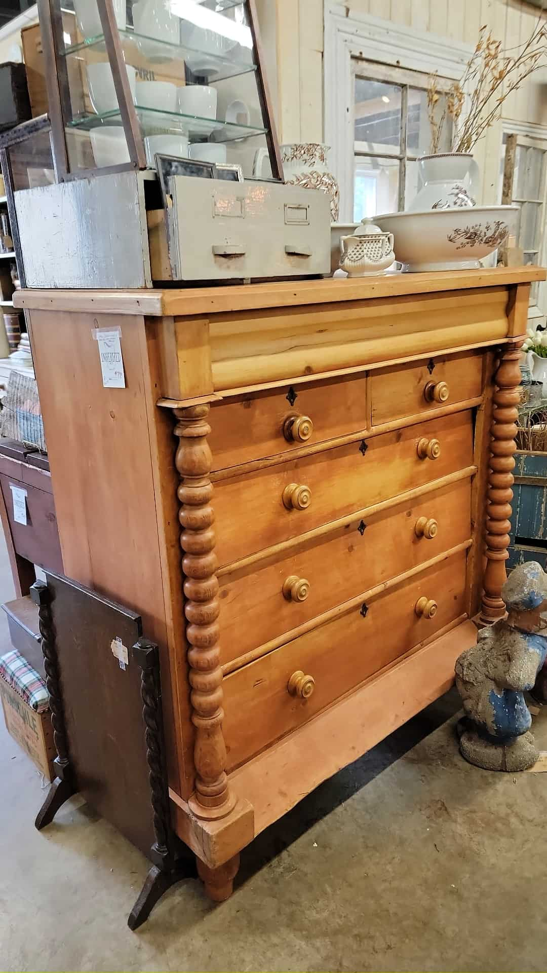 incredible antique chest at an antique store