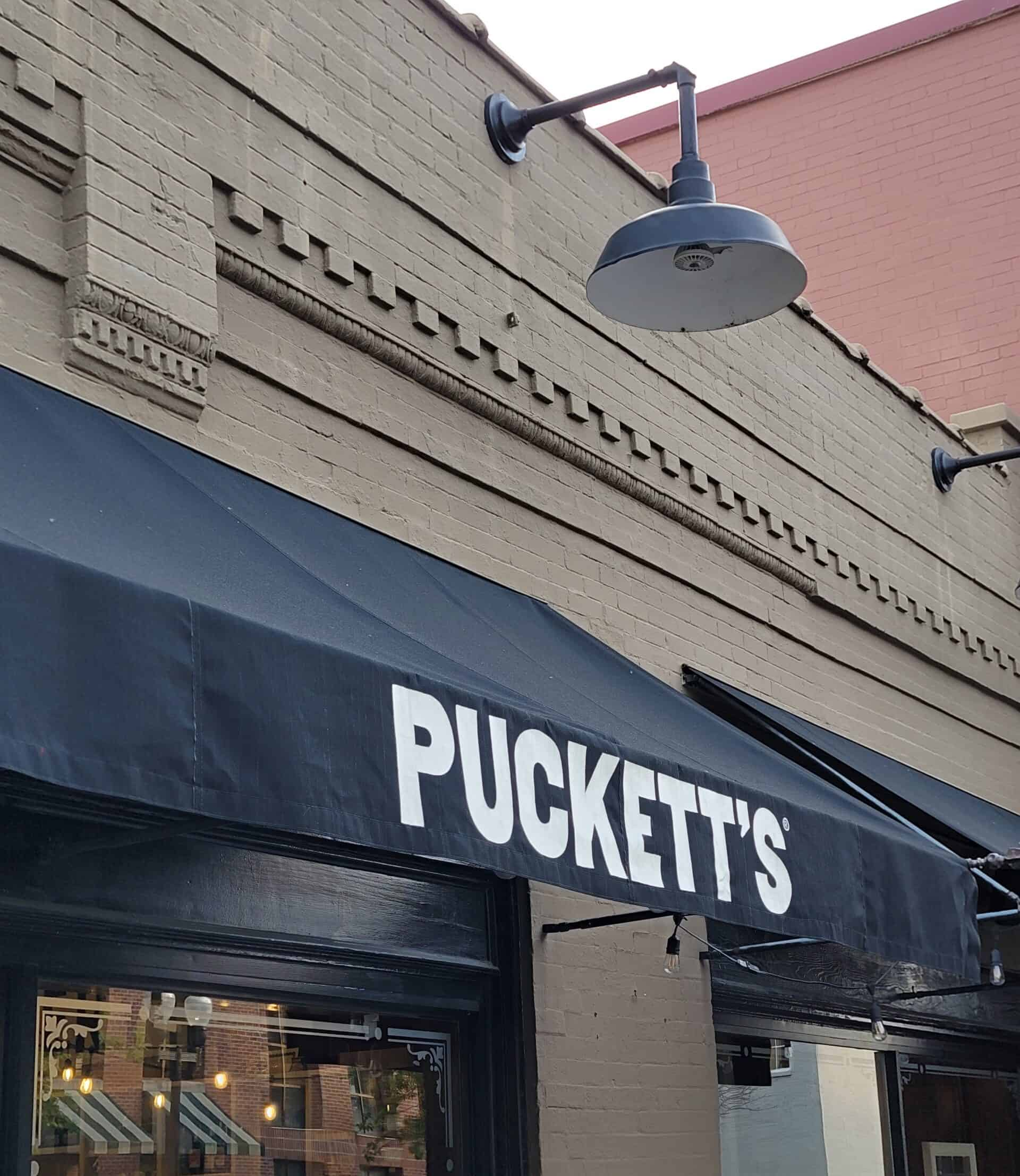 pucketts restaurant awning