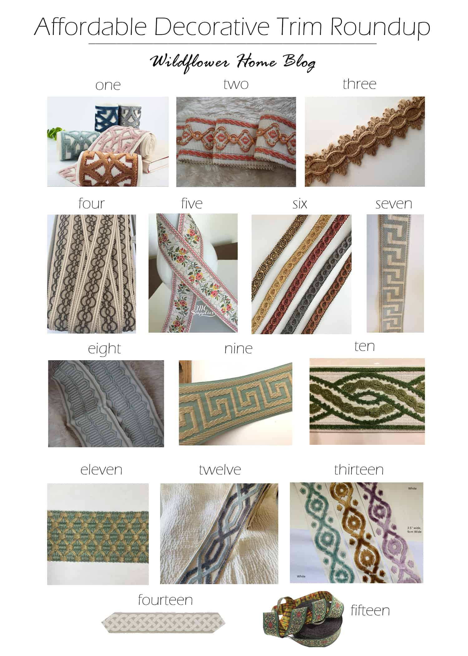 Roundup of affordable decorative trims