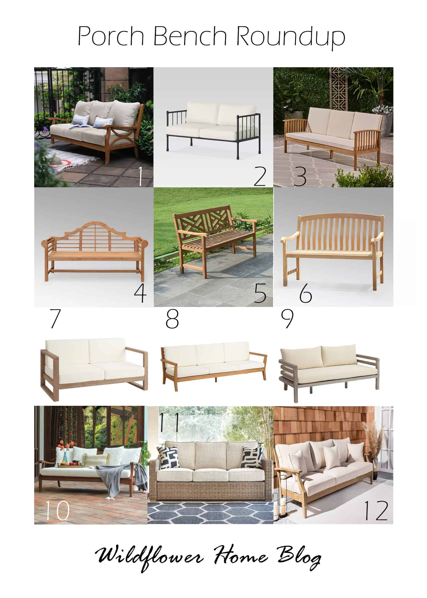 roundup of porch benches