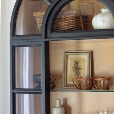 Tips to Find, Paint, and Style an Arched Display Cabinet
