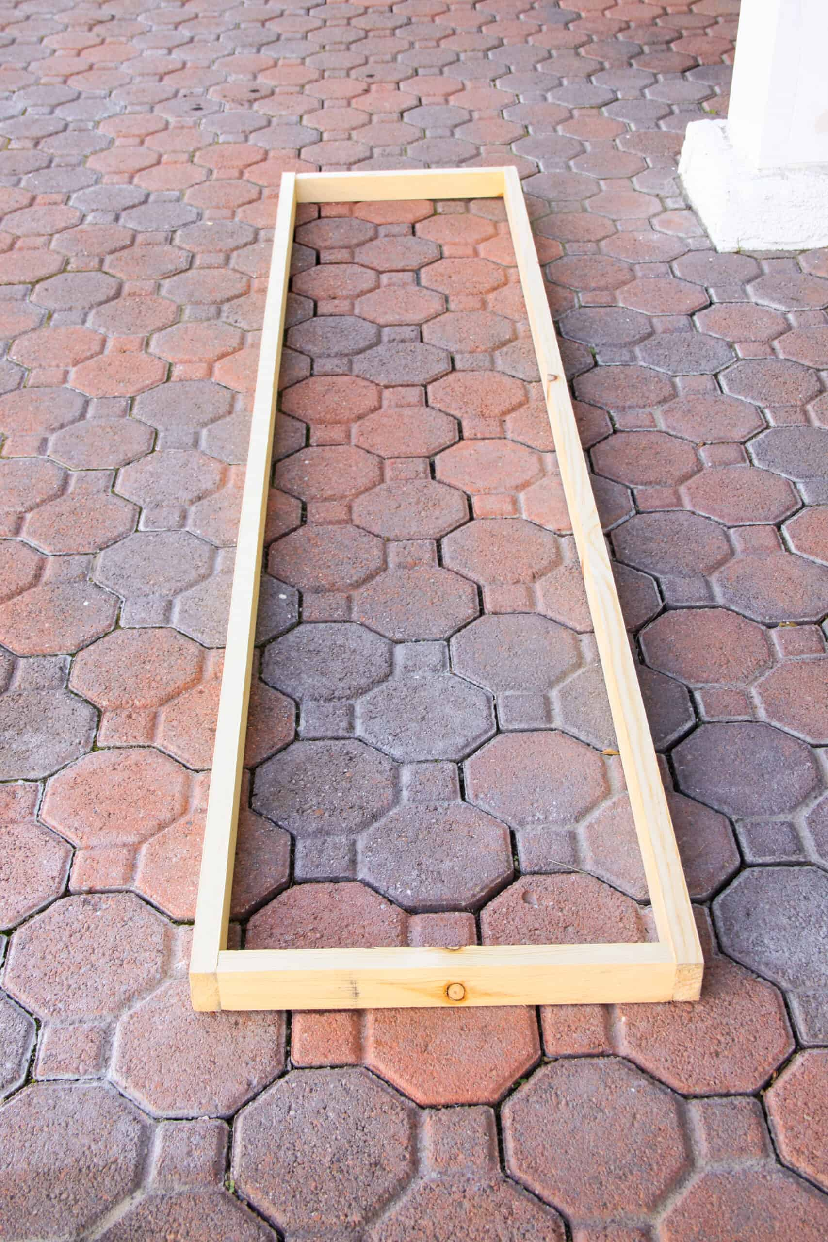 wooden frame for headboard canopy