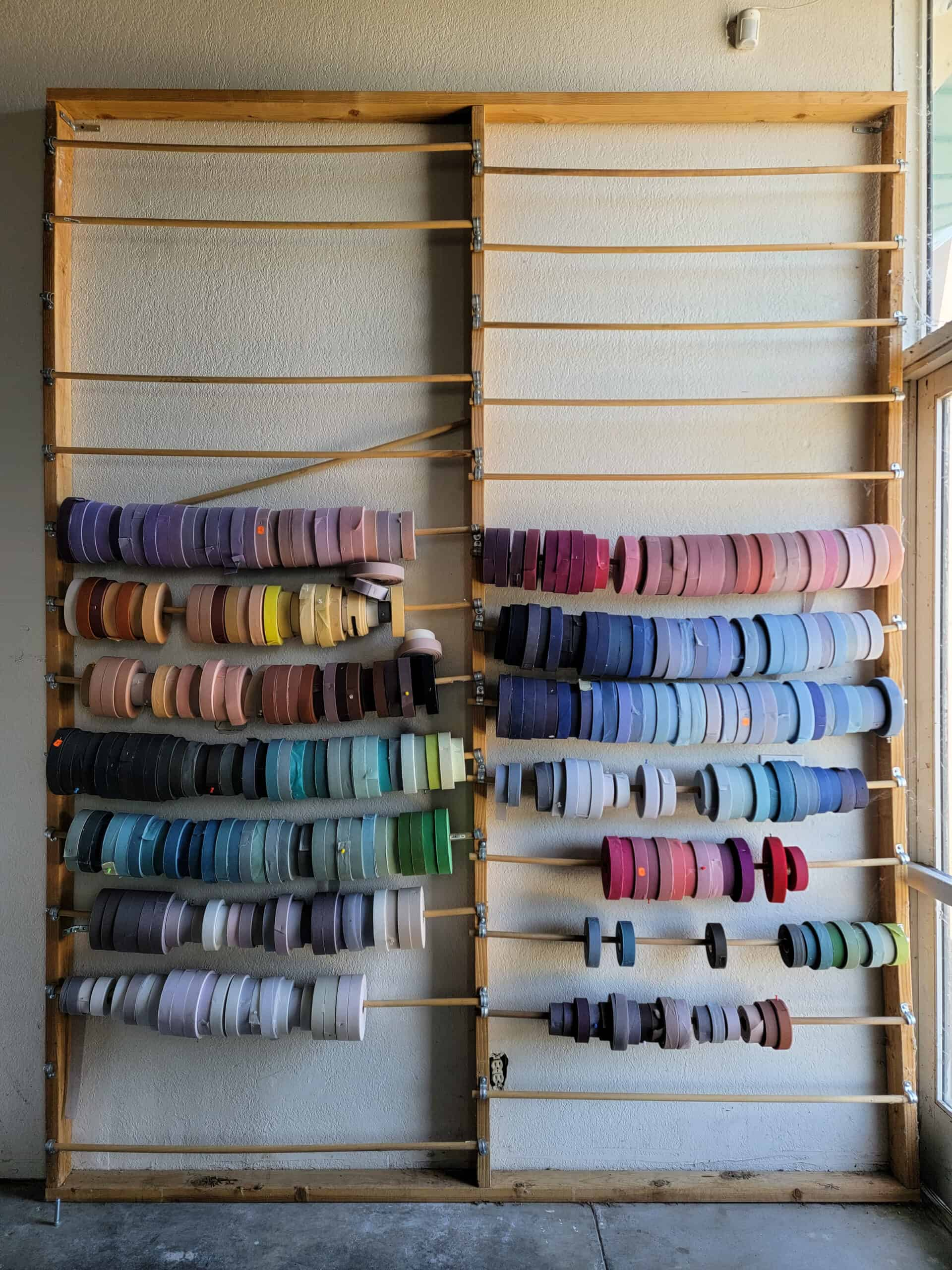 wall with lots of colorful trim